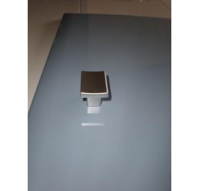 Bouton de porte de meuble rectangulaire chromé mat