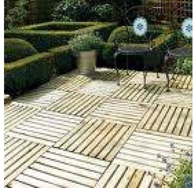 Dalle de terrasse bois traité