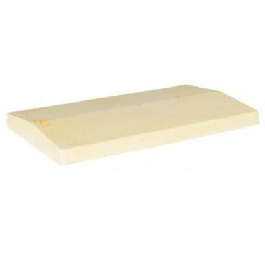 couvre mur 2 pentes h5xl50xl28cm beige. Black Bedroom Furniture Sets. Home Design Ideas