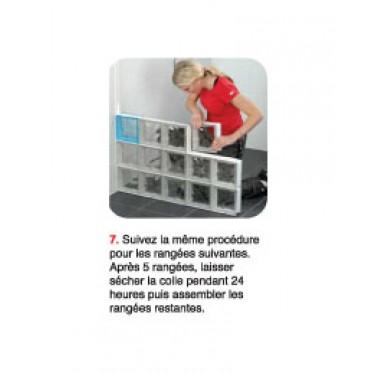 Kit block lock 5 x 10 briques de verre