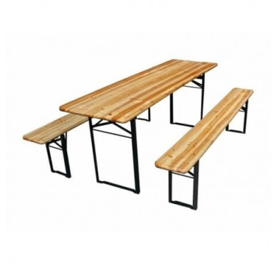 Ensemble Brasseur Table + 2 Bancs