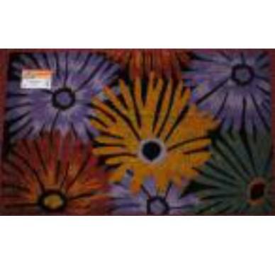 Tapis coco fleurs 45x75 CM