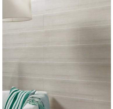 Lambris PVC murs et plafonds imperméable cérusé beige 400 x 37.5 cm