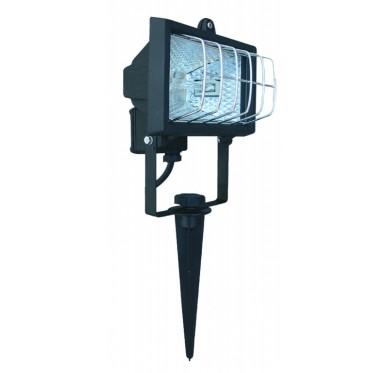 Luminaire de jardin projecteur halogène, 120W, à planter