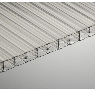 Plaque polycarbonate 16 mm translucide, 5 x 0.98 M