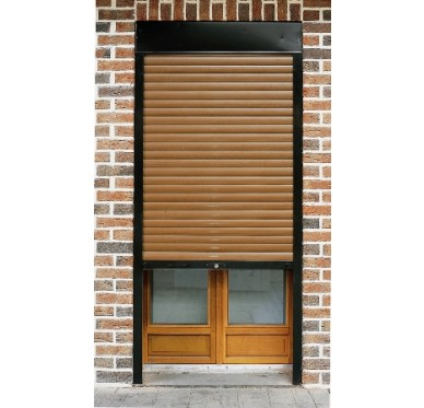 Volet roulant PVC marron à sangle H120xL220cm