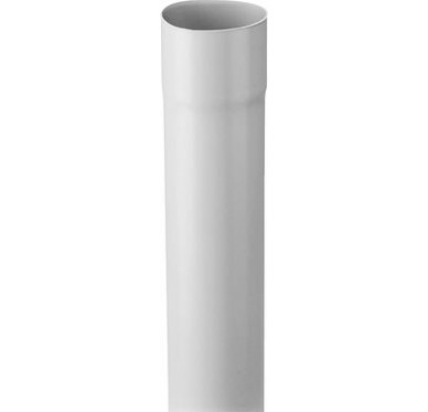 Tube de descente dia. 80mm longueur 4m gris