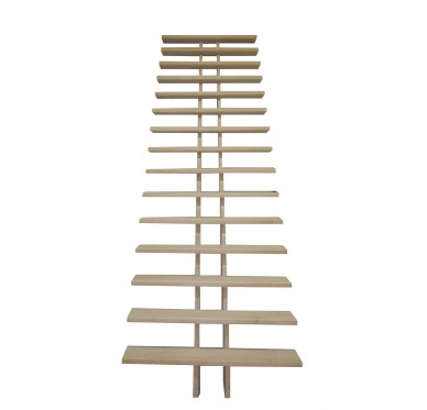 Escalier droit en hêtre à crémaillère 272 cm sans rampe