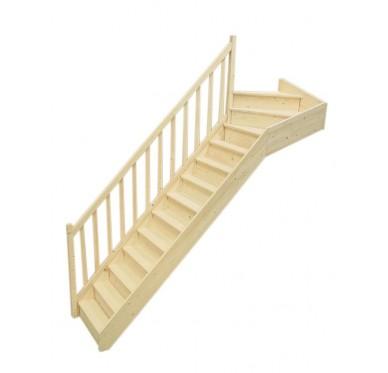 escalier interieur quart tournant haut