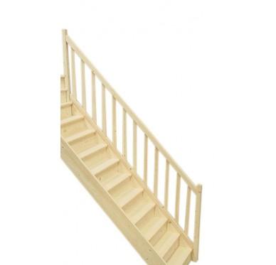Rampe pour escalier droit en sapin