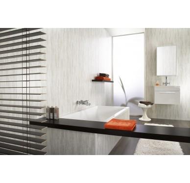 Panneaux muraux et de plafonds à clipser écorce gris 120 x 25 cm