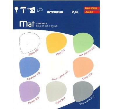 Peinture murale acryl mat 2,5L, Chair