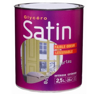 Peinture glycéro satin 0,5L BLEU