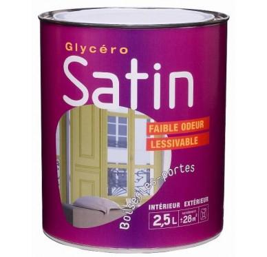 Peinture glycéro satin 0,5L CHATAIGNE