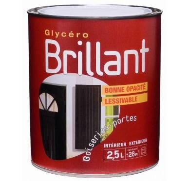 Peinture glycéro brillant 2,5L, Rouge bordeaux