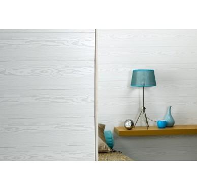 Lambris murs et plafonds imperméable pin blanc 260 x 25 cm