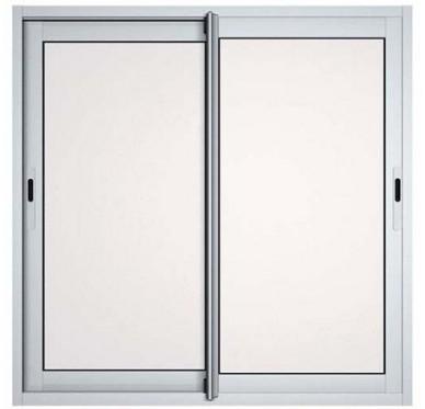 Fenêtre coulissante en aluminium H115-L120 laqué blanc