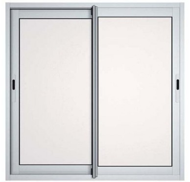 Fenêtre coulissante en aluminium H100-L100 laqué blanc