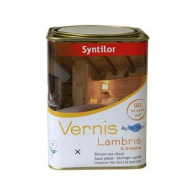 Vernis Syntilor 2,5L lambris - frisette, Blanc