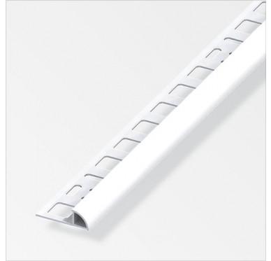 Profilé en quart de cercle en PVC Blanc brillant longueur 2.50m