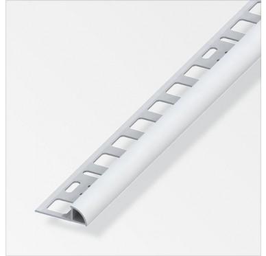 Profilé en quart de cercle en PVC gris longueur 2.50m