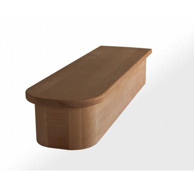 Socle en hêtre 1/2 Royal pour surrélévation escalier profondeur 30 cm