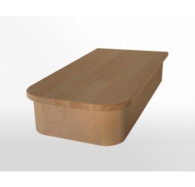 Socle en hêtre 1/2 Royal pour surrélévation escalier profondeur 50 cm