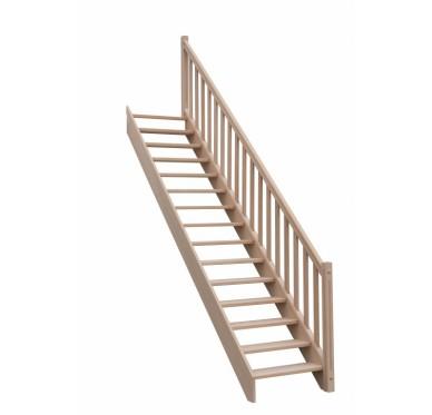 Rampe pour escalier droit hauteur 300 cm balustres rectangles