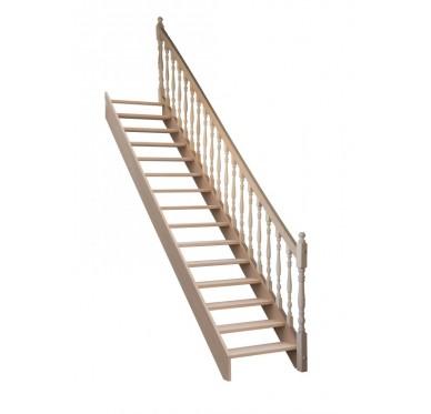 Rampe pour escalier droit hauteur 300 cm balustres tournés