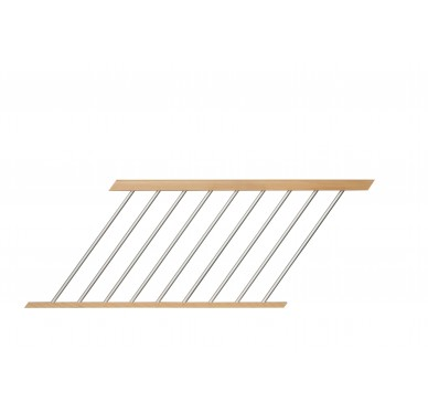 Rampe pour escalier droit hauteur 300 cm aluminium vertical naturel