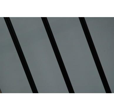 Rampe pour escalier droit hauteur 300 cm aluminium vertical noir