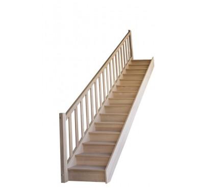Rampe pour escalier droit hauteur 280 cm balustres rectangles