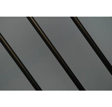 Rampe pour escalier quart tournant bas hauteur 280 cm reculement 280 cm avec marche débordante aluminium vertical bronze