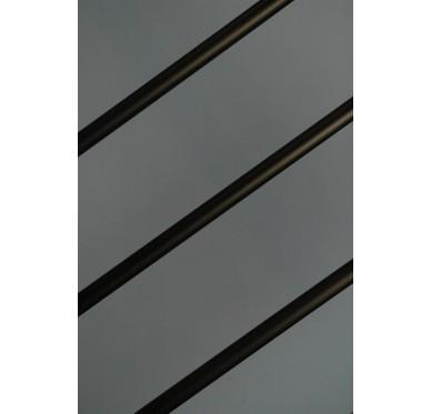 Rampe pour escalier quart tournant haut hauteur 280 cm reculement 291 cm avec marche débordante aluminium horizontal bronze