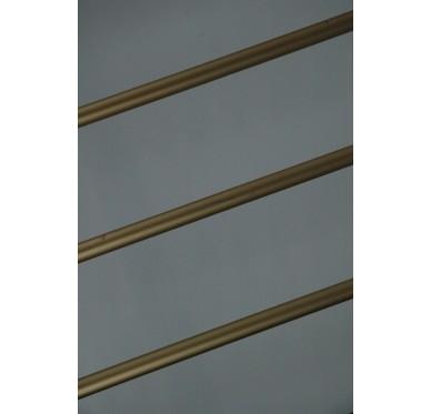 Rampe pour escalier quart tournant haut hauteur 280 cm reculement 291 cm avec marche débordante aluminium horizontal champagne