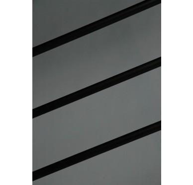 Rampe pour escalier quart tournant haut hauteur 272 cm reculement 291 cm avec marche débordante aluminium horizontal chocolat