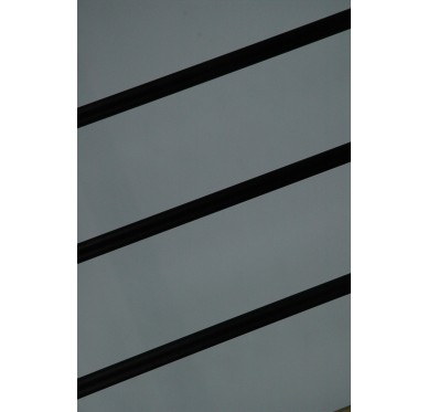 Rampe pour escalier demi tournant hauteur 272 cm aluminium horizontal noir