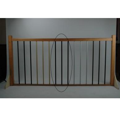Rampe pour escalier quart tournant milieu hauteur 300 cm aluminium vertical chocolat