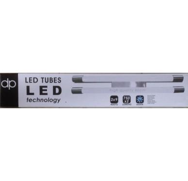 Plafonnier alu 2 tubes LED 60cm