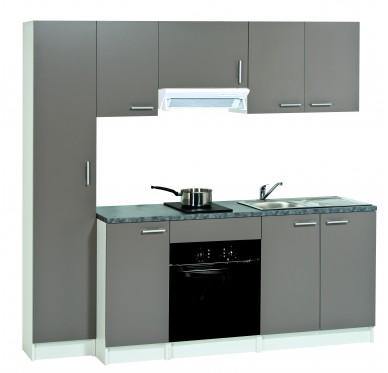 Meuble de cuisine bas 2 tiroirs casseroliers, modèle FIRST basalte, H86 X L60 X P58.6 cm
