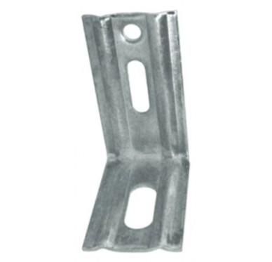 Équerre nervurée à bouts carrés, L70xH50xP30xEp1.5mm, acier galvanisé