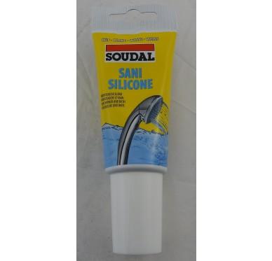 Silicone sanitaire Acétique en tube de 80 ML Blanc