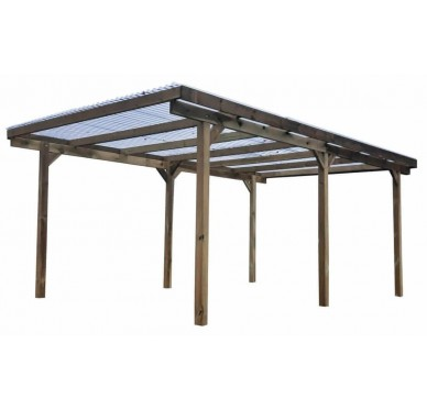 Carport avec toiture 'Teddy' 15m²