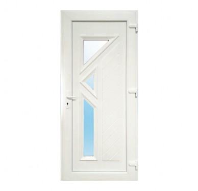 Bloc porte d'entrée PVC LARGO poussant droit 215 x 90 cm