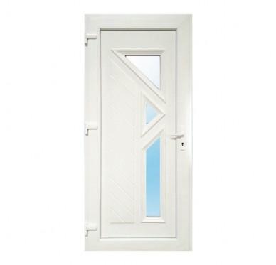 Bloc porte d'entrée PVC LARGO poussant gauche 215 x 90 cm