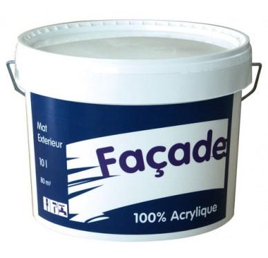 Peinture façade DAW acrylique 10 Litres Blanc