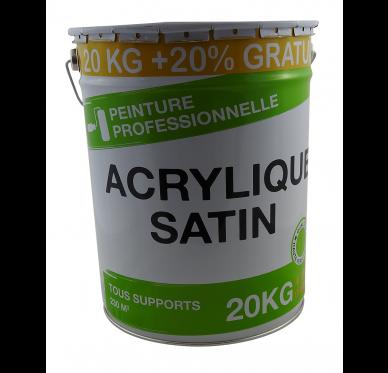 Peinture Acrylique Satin 20 Kg + 20% Gratuit soit 16 Litres