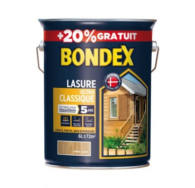 Bondex Lasure Ultra Classique Satin Chêne moyen
