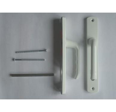 Poignée pour porte d'entrée en PVC blanc