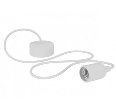 Luminaire design à suspension en cordage – Blanc